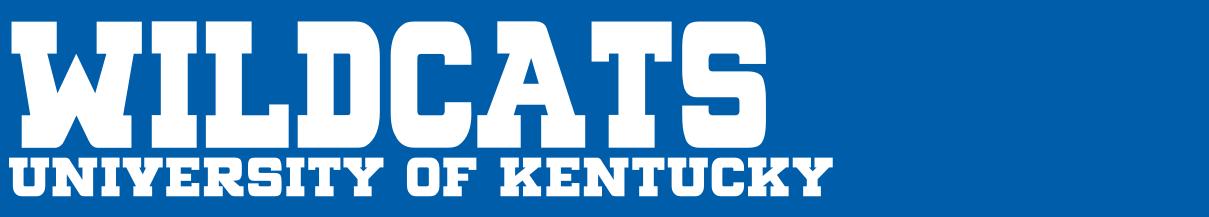 Kentucky Wildcats Merchandise - Kentucky Wildcats Football